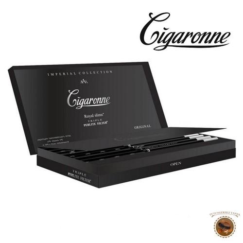 TIGARETE CIGARONNE ROYAL SLIMS XL BLACK