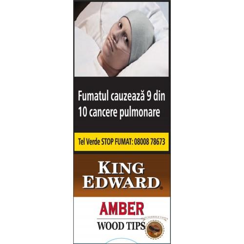 TIGARI DE FOI KING EDWARD AMBER WOOD TIPS