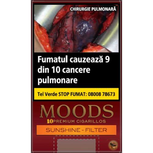TIGARI DE FOI MOODS SUNSHINE FILTER PREMIUM CIGARILLOS