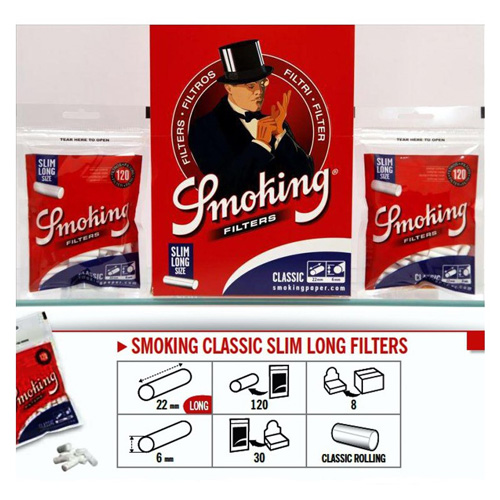 FILTRE TIGARI SMOKING CLASSIC SLIM LONG