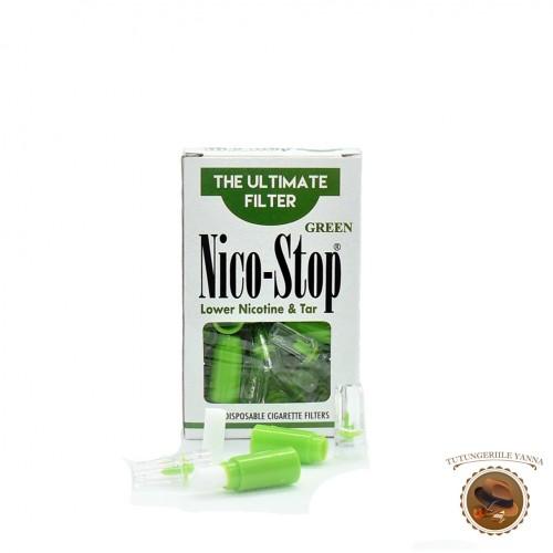FILTRE ANTI-NICOTINA NICO-STOP GREEN PENTRU TIGARETE CU DIAMETRU STANDARD
